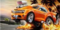 Обои Машинка, Оранжевая машина с вертикальным взлетом.