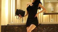 ванная комната, черное платье, chanel, платье, мода.